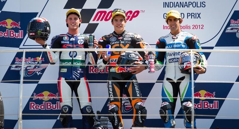 Результаты гонки Moto2 Гран-При Индианаполиса 2012