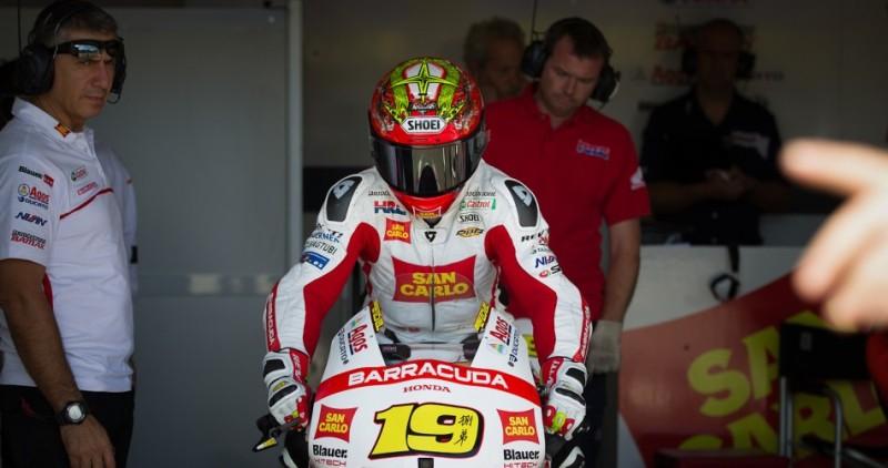 Альваро Баутиста, гонщик команды MotoGP San Carlo Honda Gresini