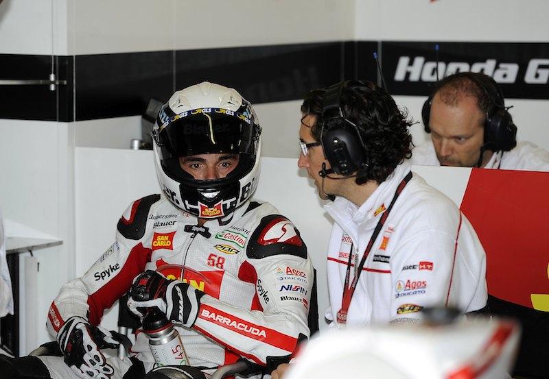 Микеле Пирро на тестах Ducati