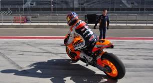Дани Педроса тест Арагон MotoGP 2012