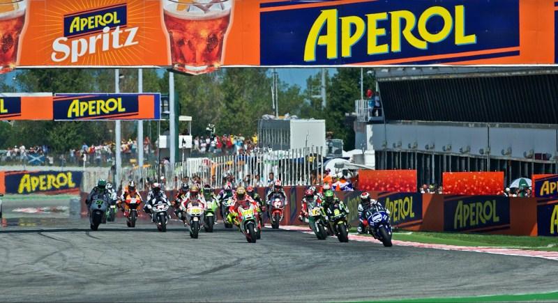 Старт гонки Гран-При Сан-Марино класса MotoGP