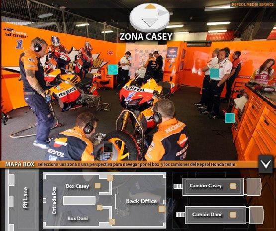 Экскурсия по боксам команды Repsol Honda