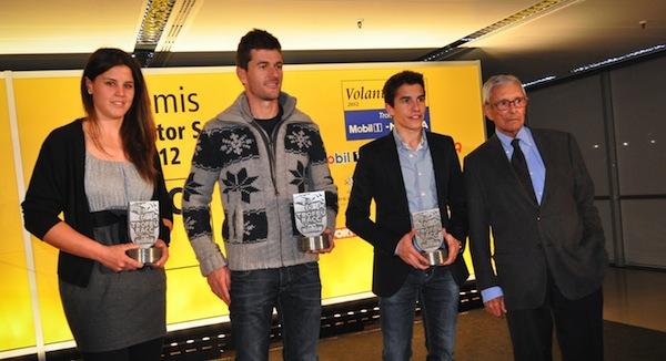 Марк Маркес получил испанскую награду RACC Motor Sport 2012