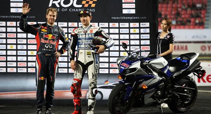 Себастьян Фетталь и Хорхе Лоренцо на Гонке Чемпионов 2012