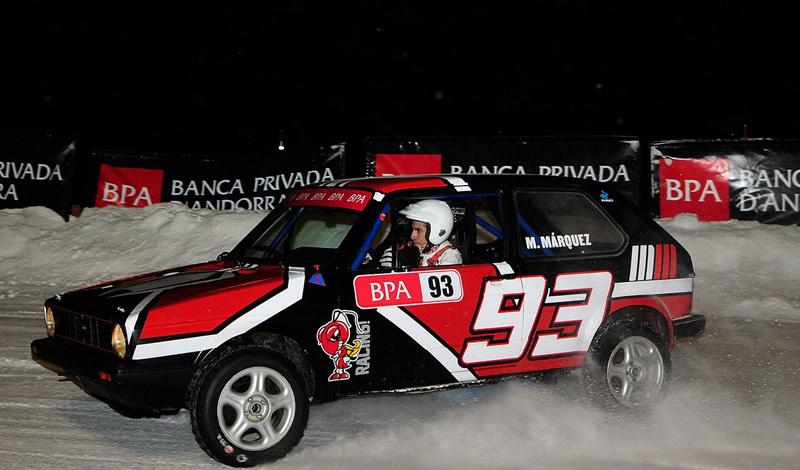 Марк Маркес принял участие в гонке на VW Golf MK1