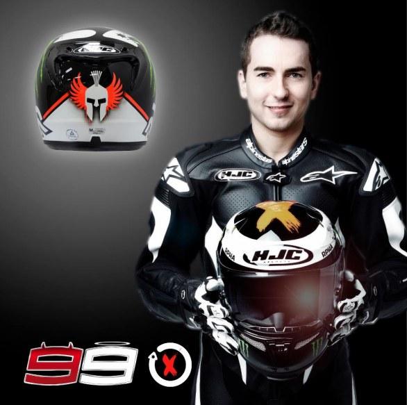 Хорхе Лоренсо представил новый шлем