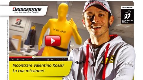 Bridgestone организовал рекламную кампанию с Валентино Росси
