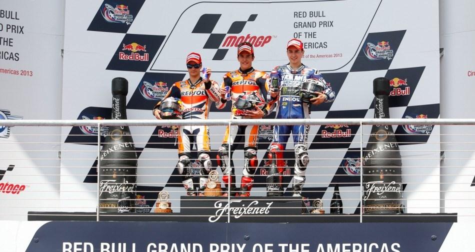 Результаты гонки MotoGP Гран-При Америк 2013