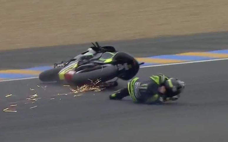 MotoGP Ле-Ман 2013: Падения