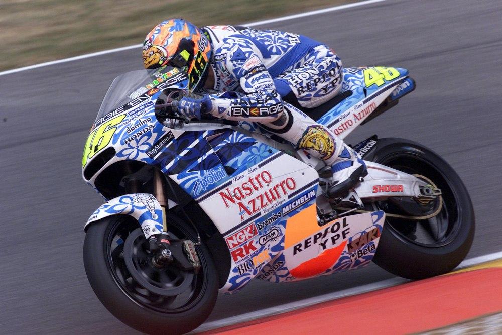 Валентино Росси в Муджелло, 2001 год.