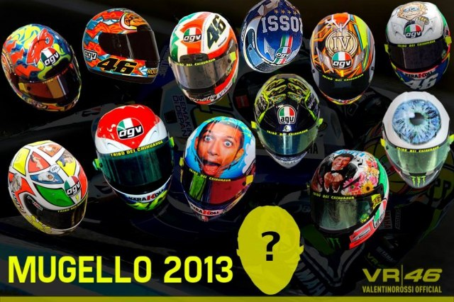 Ждем нового шлема Валентино Росси в Муджелло