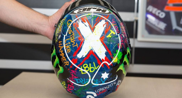 Шлем Хорхе Лоренсо выставлен на продажу в благотворительном аукционе