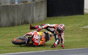 Авария Марка Маркеса на практике Гран-При Италии