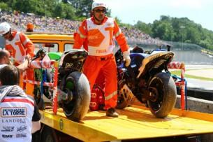 Столкновение между Валентино Росси и Альварой Баутистой Гран-При Италии в Муджелло 2013