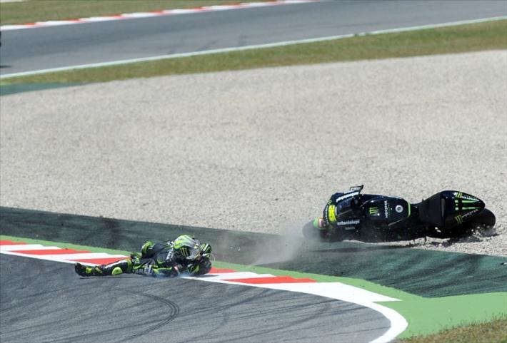 Падение Кэл Кратчлоу 2013 Гран-При Каталонии