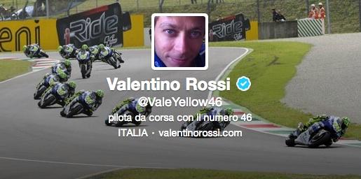 Валентино Росси в твиттере