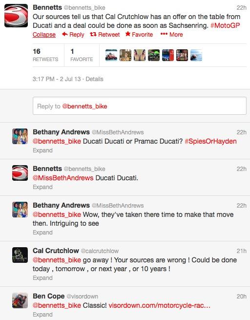 Кэл Крачлоу одной ногой в Ducati?