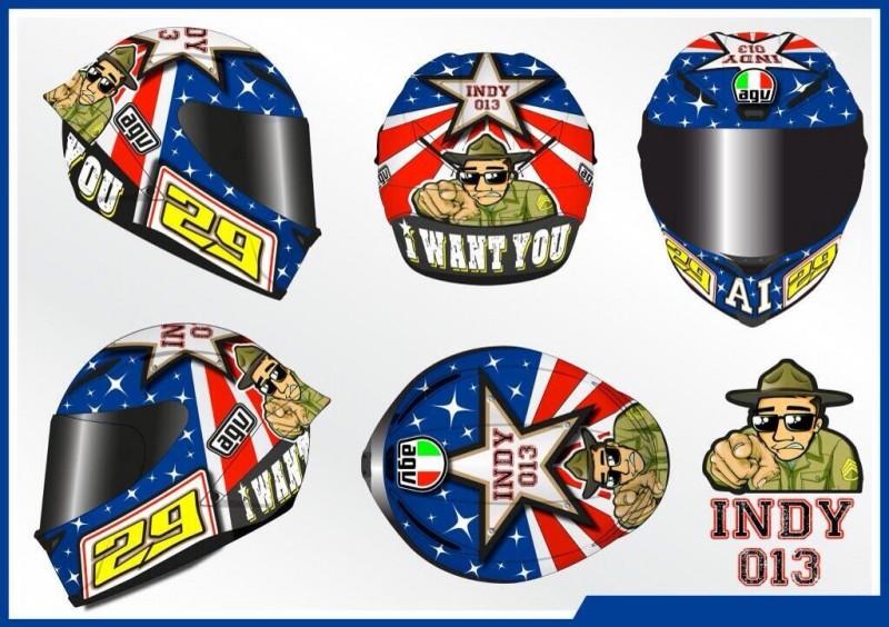 Дизайн шлема Андреа Ианноне для Гран-При Индианаполиса