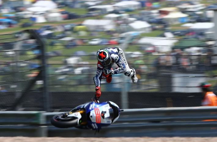 Падение Хорхе Лоренцо Гран-При Германии 2013