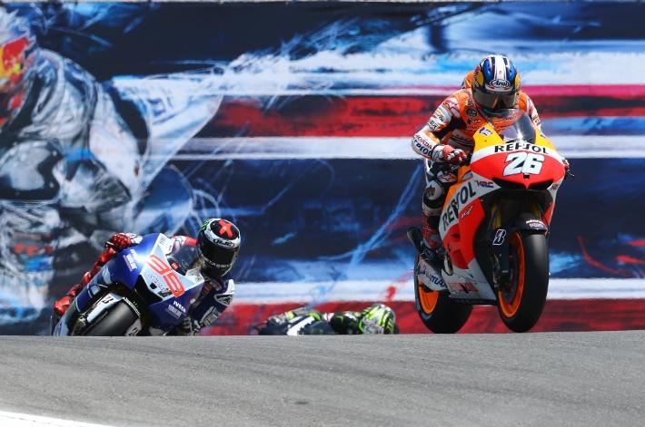 Дани Педроса и Хорхе Лоренцо гонка MotoGP Гран-При США 2013
