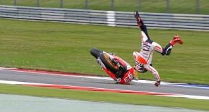 Паление Марк Маркес Гран-При Нидерландов 2013