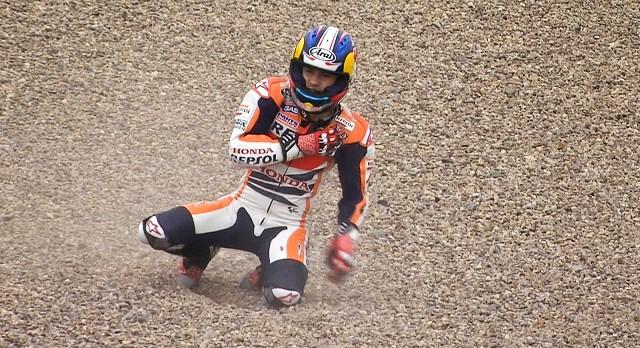 Падение Дани Педроса Гран-При Германии MotoGP 2013