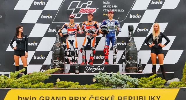 Подиум MotoGP Гран-При Чехии 2013