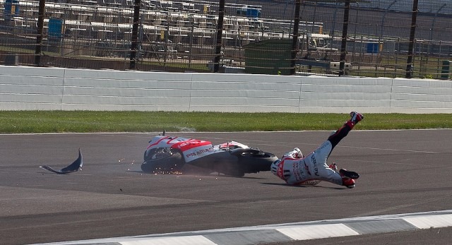 Бэн Спис падение Гран-При Индианаполиса MotoGP 2013