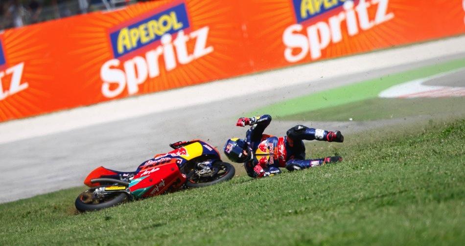 MotoGP Гран-При Сан-Марино 2013: Падения