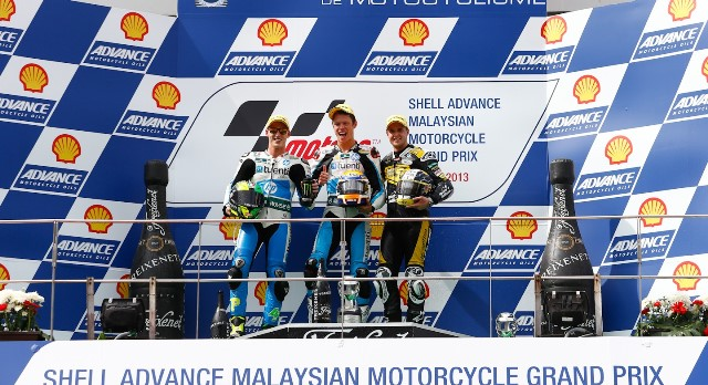 Подиум Moto2 Гран-При Малайзии 2013