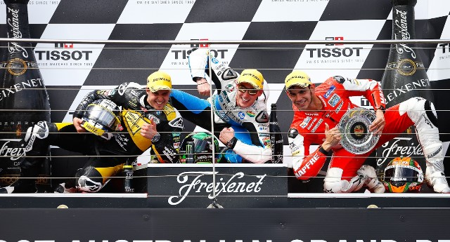 Подиум Moto2 Гран-При Австралии 2013
