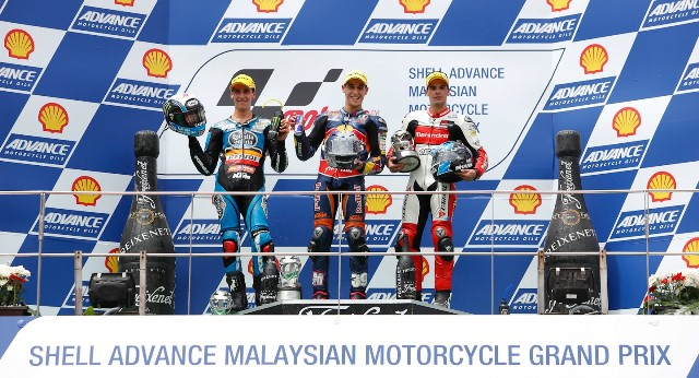 Подиум Moto3 Гран-При Малайзии 2013