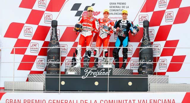 Подиум Moto2 Гран-При Валенсии 2013