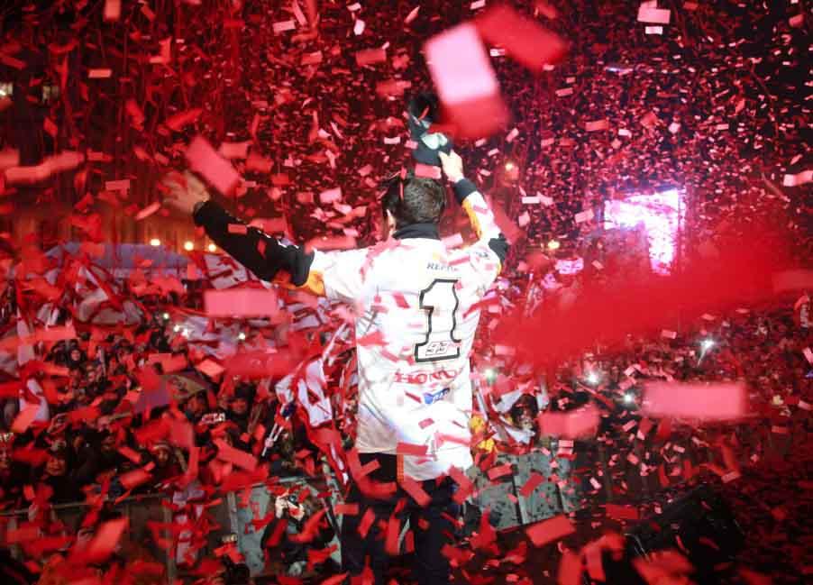 Марк Маркес отпраздновал свой титул в родном городе