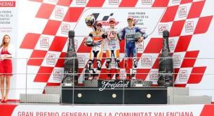 Подиум MotoGP Гран-При Валенсии 2013