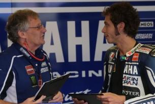 Валентино Росси с своим главным механиком Джереми Берджессом