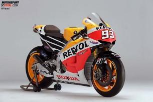 Honda RC213V. 2013 год. 230 л.с. 160 кг. Дани Педроса, Марк Маркес