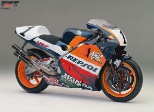 Honda NSR500. 1996 год. 185 л.с. 130кг. Мик Дуэн, Алекс Кривиль