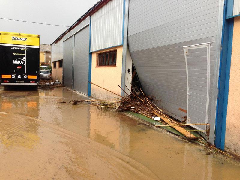 База команды Yamaha Tech 3 повреждена из-за наводнения