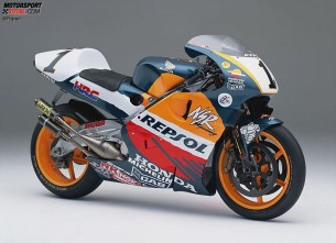 Honda NSR500. 1998 год. 185 л.с. 130 кг. Мик Дуэн, Алекс Кривиль