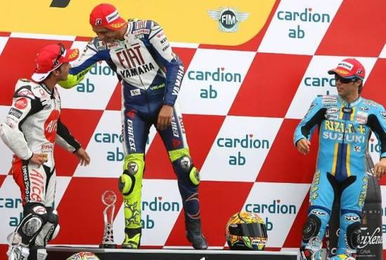 Брно. Упавший флаг Ducati неожиданно подбирает Тони Элиас и добивается 2 места