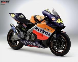 Honda RC211V. 2002 год. 200 л.с. 145 кг. Валентино Росси, Тору Укава