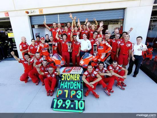 Заезд окончился дублем Ducati. Это был единственный раз, когда Кейс и Ник вместе побывали на подиуме
