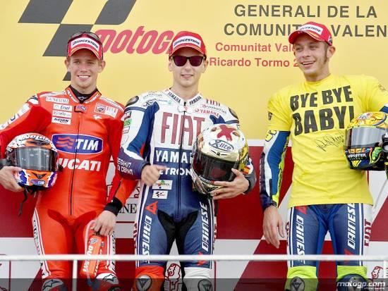 Самопровозглашенный «новый король MotoGP» ударно провел финальную гонку. Двум другим королям пришлось потесниться
