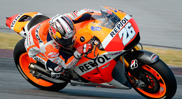 Дани Педроса тесты MotoGP 2014