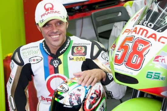 Свою последнюю гонку Капирекс провел с номером 58 - в память о Марко Симончелли