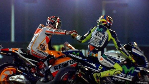 Марк Маркес и Валентино Росси, Гран-При Катара, MotoGP, 2014