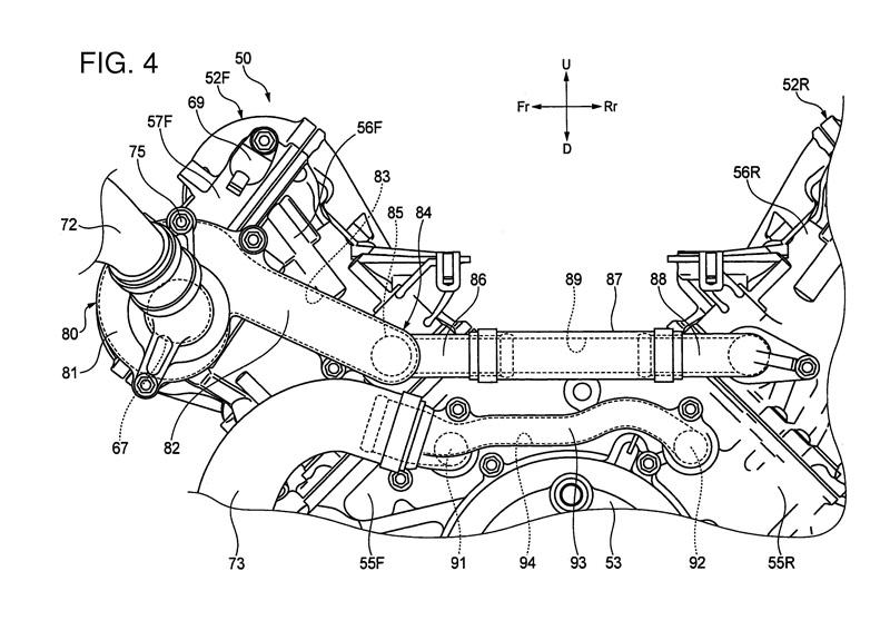 Патент двигателя Honda V4