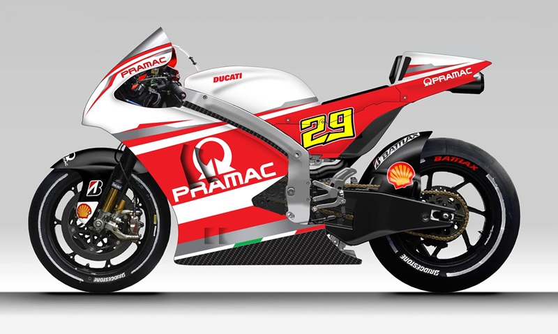 Pramac Racing представила дизайн прототипов Ducati Desmosedici GP14