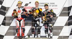 Призеры гонки Moto2 Гран-При Катара 2014